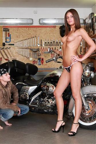 [LittleCaprice.com] Little Caprice (aka Patricia) (Biker sex) / Молодоая красавица отдалась байкеру [2009 г., All Sex, Teen, Straight, 720p] (2009) HDTVrip