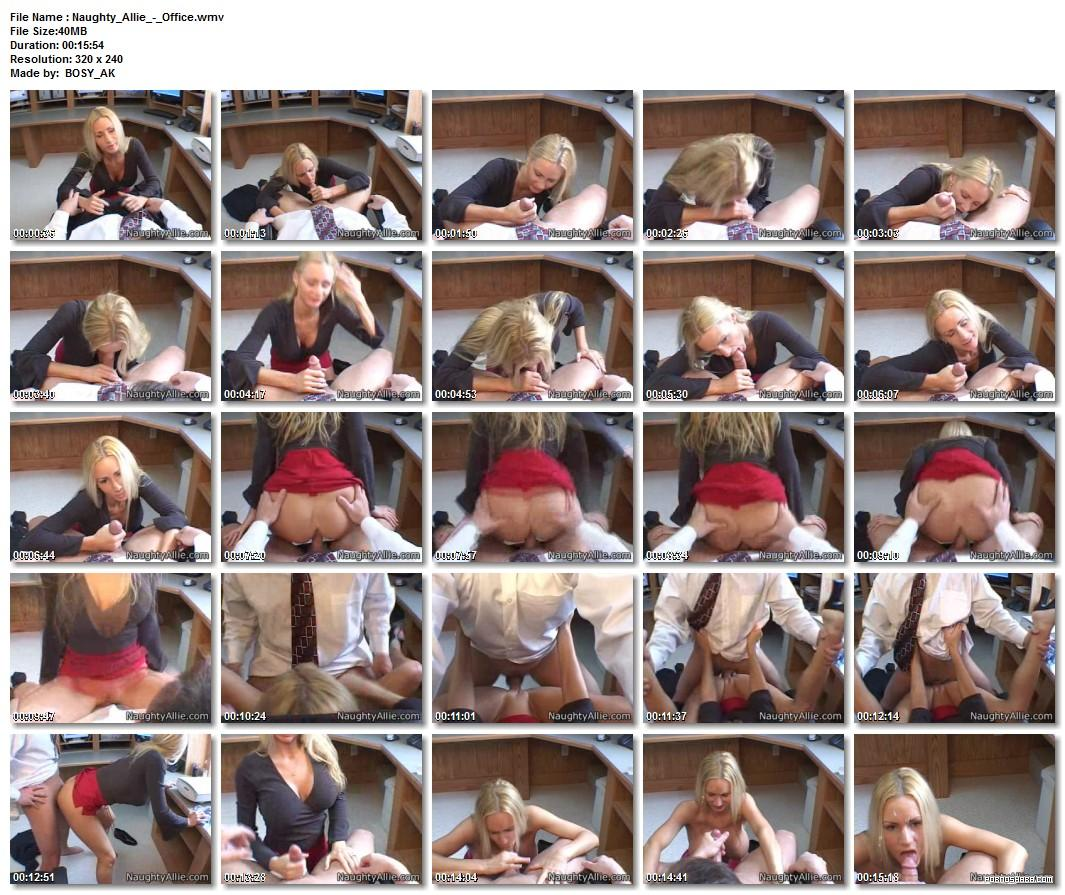 """Allie visits jake""""s offise  for a quickie/Cherrie  Rose 2 (2009) SATRip"""