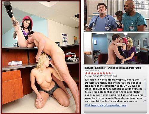"[NewSensations.com] Alexis Texas & Joanna Angel (сцена из ""Scrubs"") [All sex, anal, group, CamRip] (2009) CamRip"