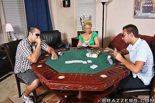"РОЛЛ БОМБА!!! "" Шила Стайлз и картёжники"" или ""Карты, деньги, но ствол один"" (BRAZZERS. Keiran goes All In!! Shyla Stylez) (2009) SATRip"