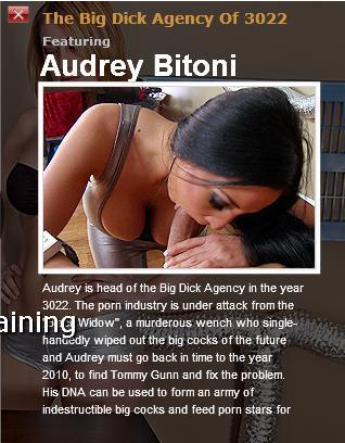 [Pornstarslikeitbig.com / Brazzers.com] Audrey Bitoni (The Big Dick Agency Of 3022 / 4652) / Большой Член в Агенстве [2010 г., Big dicks, Big tits, Brunette, Facial]*Released: March 22, 2010* (2010) SATRip