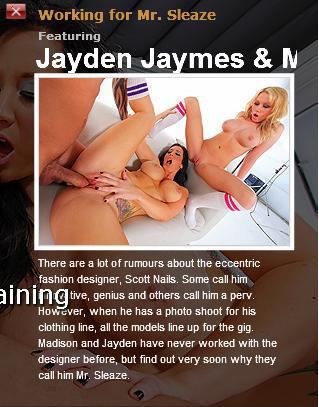 [BigTitsAtWork.com / Brazzers.com] Madison Scott and Jayden Jaymes (Working for Mr. Sleaze / 4800) [2010 г., Big dicks, Big tits, Facial, Threesome, Titty fuck]*Released: April 29, 2010* (2010) SATRip
