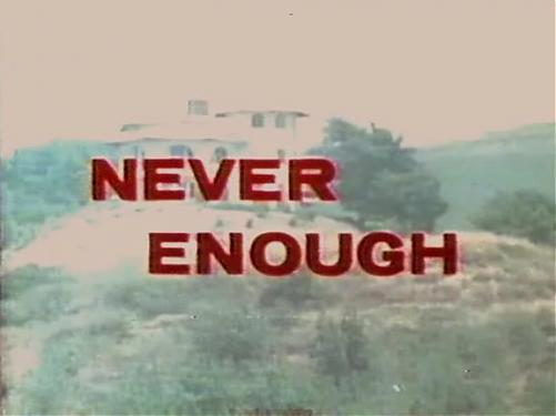 Never Enough / Всегда мало [1971 г., classic, feature, group, VHSRip] (Rene Bond) (Hitch Hiker's Hold-up) (1971) DVDRip