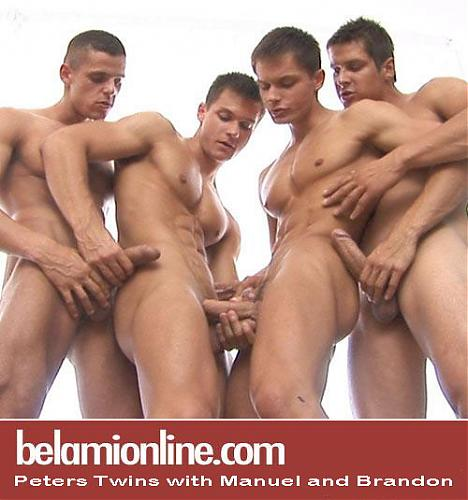 Sex Scenes -  Peters Twins with Manuel and Brandon (2009) DVDRip