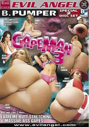 Gapeman 3 / Человек Зевка 3 (Brian Pumper / Evil Angel) [2009 г., Gonzo, Anal, Gaping, Interracial, Big Butts.] (2009) DVDRip