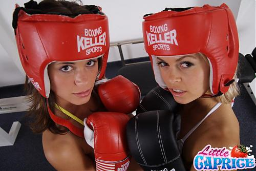 [LittleCaprice.com] Little Caprice & Sabrinka (Boxing Girl MFF) / Забыв о боксе малолетки устроили групповушку [2009 г., All sex, Legal Teen] (2009) DVDRip
