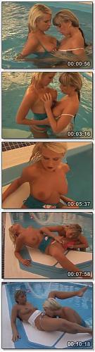 [YoungBusty.com] Michaela & Debby / Две девчонки развлекаются друг с другом в бассейне [2009 г., All sex, Blonde, Big Tits, Lesbian] (2009) SATRip