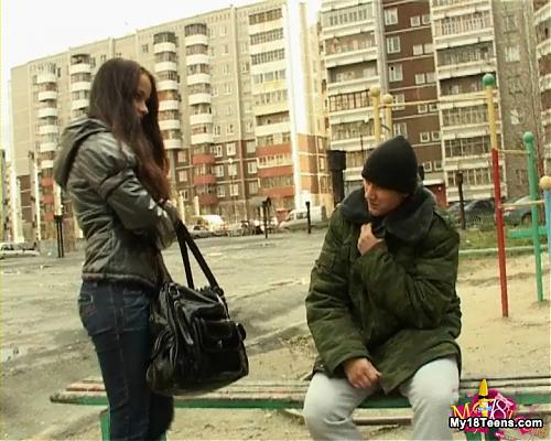 Шикарная девочка Рената соблазняет ...бомжа (30.04.2009) [My18Teens.com] (2009) DVDRip
