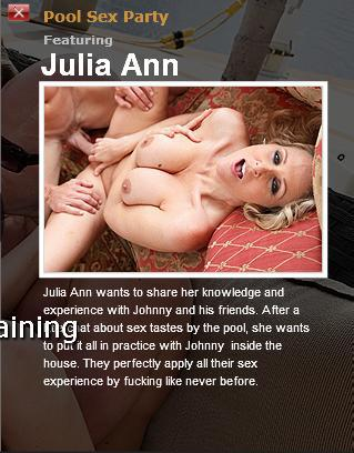 [DayWithAPornstar.com / BraZZers.com] Julia Ann (Pool Sex Party / 4851) / Секс-вечеринка у бассейна [2010 г., Big tits, Blonde, Milf, Pornstar]*Released: June 26, 2010* (2010) SATRip