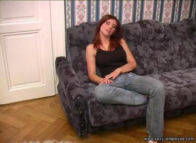 Молодая красавица с супергрудью устраивается на работу / Simona (2010) SATRip