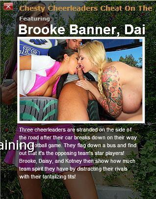 [BigTitsAtSchool.com / BraZZers.com] Brooke Banner, Kortney Kane, Daisy Cruz (Chesty Cheerleaders Cheat On The Champs / 4794) / Оргия для трех чирлидерш [2010 г., Big tits, Facial, Orgy, Cheerleader]*Released: Jun 15, 2010* (2010) SATRip