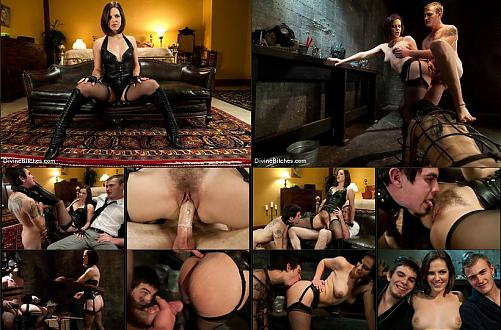 "[DivineBitches.com / Kink.com] Bobbi Starr, Christian Wilde and Dylan Deap / Chastity Cuckold Slave: ""Smell his cock on my pussy"" (2010) Other"