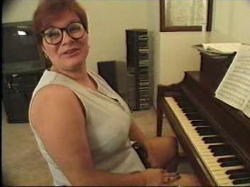 Plump Piano Teacher Takes 2