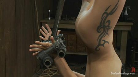 BDSM scene with a beautiful girl